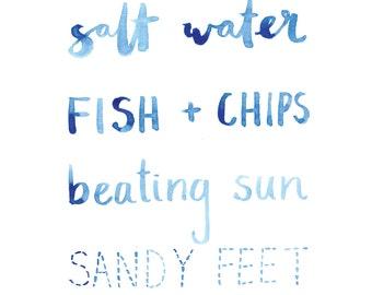 Sandy Feet Australiana Typography Print