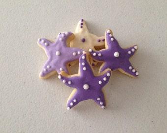 2 dozen Mini Starfish Sugar Cookies