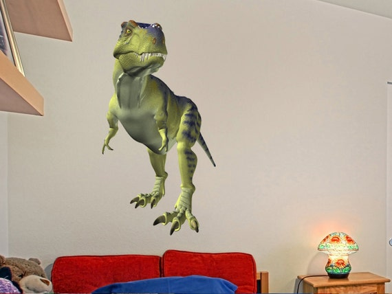 Tyrannosaurus rex dinosaur wall decal t rex kids bedroom wall for T rex bedroom decor