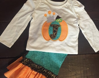 Pumpkin Thanksgiving Girls Outfit