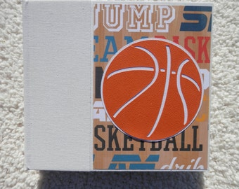 6x6 Basketball Scrapbook Photo Album