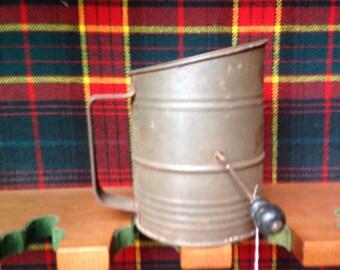 Kitchen- Flour Siffter, baking utensil  vintage-primitive