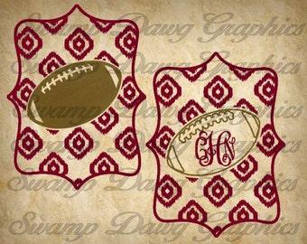 Ikat Football Monogram svg, football monogram, Ikat football svg, silhouette, cricut, svg, decal, vinyl, cut file ikat cut file monogram svg