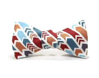 Arrow bowtie, striped bowtie, metallic copper, grey, marsala, blue, white bowtie, white gold arrow bowtie, arrow tie, arrow accessory