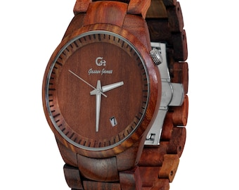 Wood Watch Handmade from Rosewood {Bryce}