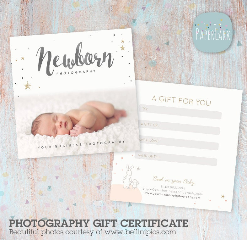 Photography gift certificate photoshop template vg014 for Gift certificate template photoshop