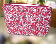 Wash Bag / Toiletry Bag / Makeup Bag in Liberty Fabric Wiltshire Handmade Gift for Her