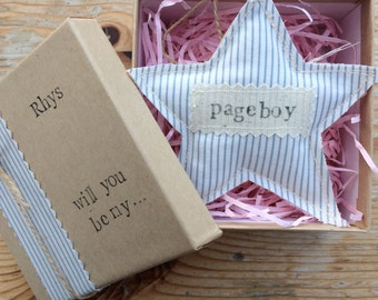 Will you be my Pageboy, Page boy Gift, Rustic Wedding