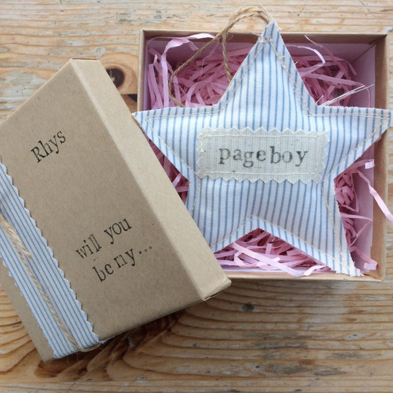 Wedding Gift Ideas For Pageboy : Will you be my Pageboy, Page boy Gift, Rustic Wedding