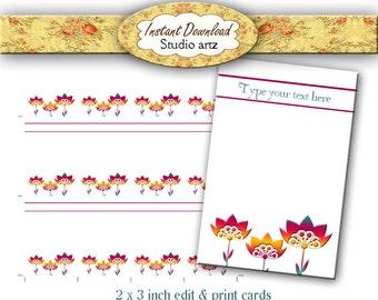 Custom Earring Cards, Digital Download, Earring Display, Jewelry Display, Custom Cards