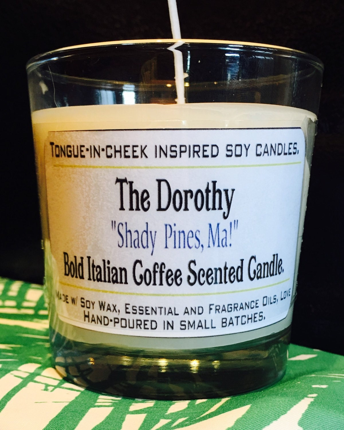 Golden Girls Candles The Dorothy Bold Italian Coffee By