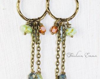 Boho earrings switch romance NELL earrings glass beads