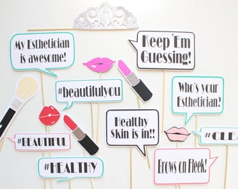 16pc * Esthetician Photobooth Props/Beauty Party Photo Booth/ Wedding Photobooth Props