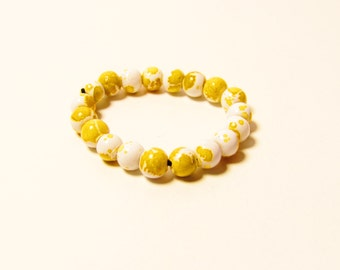 D-00963 - 20 Glass beads 4mm Yellow