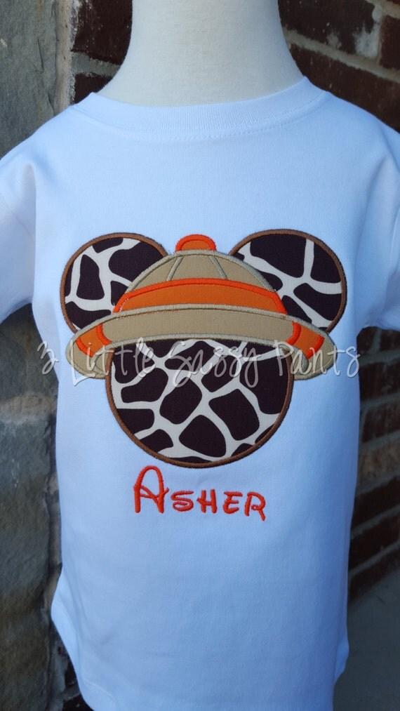 Mickey Mouse Safari Embroidered Shirt Mickey Animal Kingdom