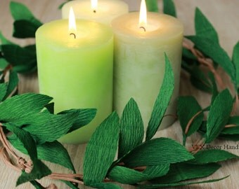 Green Paper Garland, Wedding Party Garland, Table Garland, Custom Wedding Arch Garland, Paper Garland Greenery, Chair Garland, Green Wedding