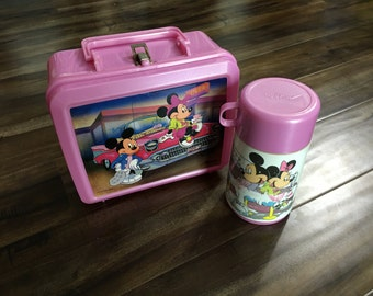 Aladdin Mickey Mouse Lunch Box With Thermos