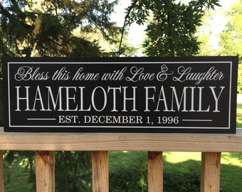 Christmas Gifts, Christmas Gift Ideas, Family Established Sign, Family Name Signs, Established Plaques, Family Wall Sign, Last Name Wood