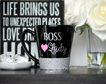Boss Lady Mug, Boss Gift, Boss Appreciation, Boss Girl Mug, Boss Quote, Boss Glitter Mug, Girl Boss Gift, Girl Boss Mug, Boss Life Mug