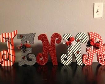 Custom wood letters. Wood letters. Nursery letters. Wedding centerpiece.