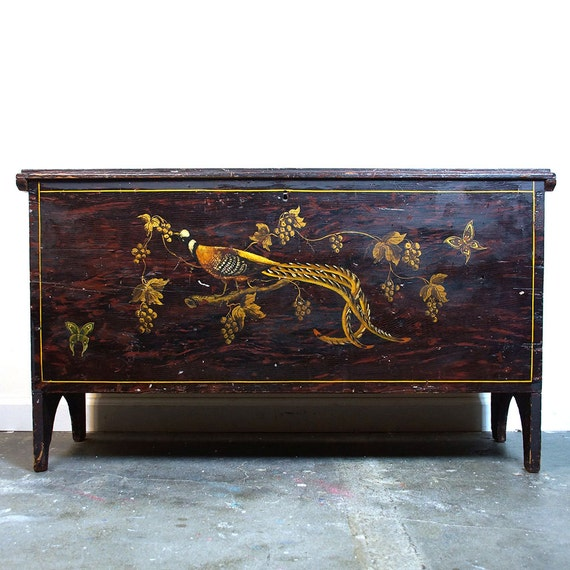 Old Charm Coffee Tables Ebay: Items Similar To Antique Hand Painted Blanket Or Hope
