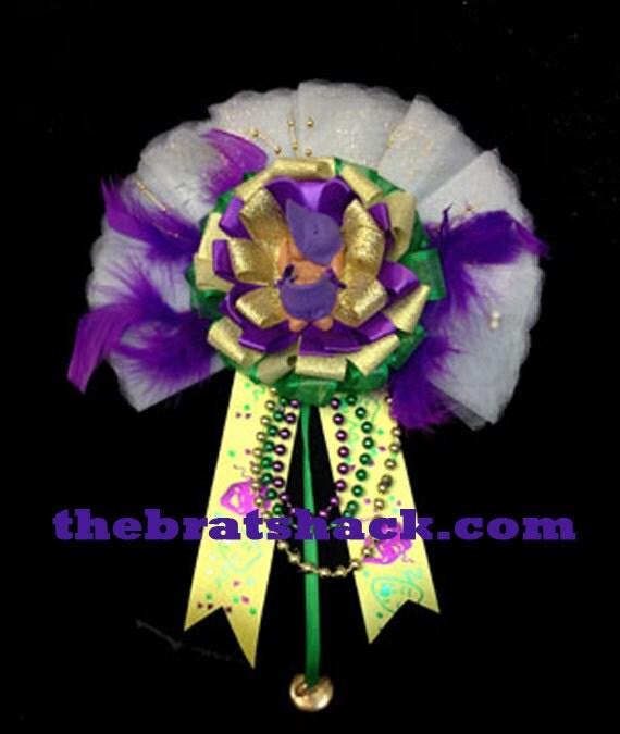 corsage handmade mardi gras baby shower