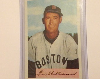 Vintage 1989 Ted Williams Boston Red Sox Bowman Refrigerator Magnet collector card