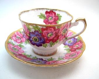 Royal Standard  Tea Cup and Saucer, Royal Standard Carmen,