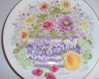 Hutschenreuther Germany Zinnias In A Sugar Bowl Collectors Plate