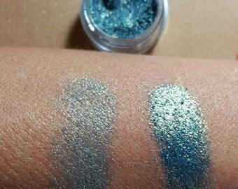 Eyeshadow - Organic Eyeshadow - Eyeshadows - Mermaid Eye Shadow - Pisces Blue Eye Shadow - Two Tone Eye Shadow - Blue Green Eye Shadow