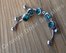 Emerald Green Add a Charm/Dangle Stone Belly Button Rings 14 gauge Surgical Steel - 5 pcs