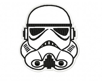 STORMTROOPER Applique ~ Machine Embroidery Design in 2 sizes - Instant Download ~ Star Wars