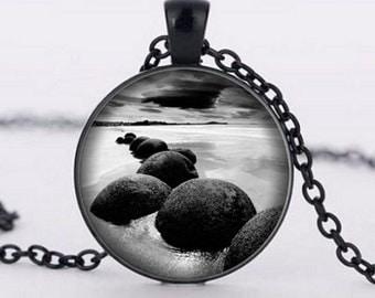 Zen Stone Necklace, Zen Stone Pendant, Zen Jewerly, Photo Jewerly, Photo Necklace