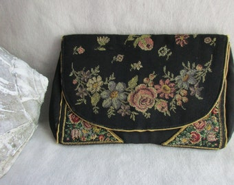 Vintage Petitpoint Clutch Purse