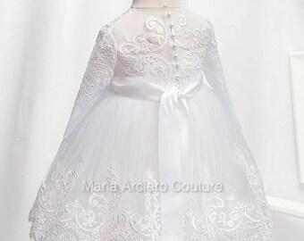 Baptism Dress, lace baptism dress, lace christening dress