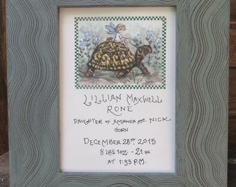 Fairy Girl on Turtle Birth Certificate