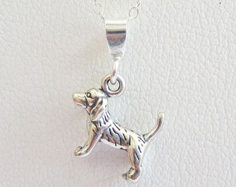 Beagle Mini Pendant Charm and Necklace