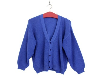 Vintage Sweater // Blue Cardigan