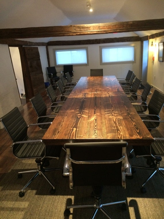 Industrial conference table industrial table with metal for 10 person conference table