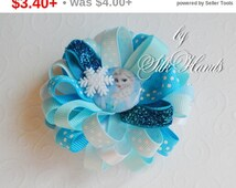 Back to school Sale Frozen Bow - - Over the Top Bow - Elsa party - Girls Hair Bows