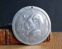Felix Dzerzhinskiy founder of KGB nkvd USSR unique Soviet memorable medal FED factory 1977