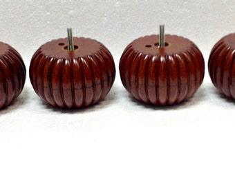 Furniture Legs PLASTIC Cherry Pumpkin Feet Couch Chair Ottoman Sofa 0809 (4 legs)