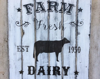Farm Fresh wood sign, Farmhouse decor Wood Sign, Home Decors, Wall Art,
