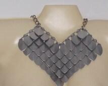 Scale Maille necklace Necklace. Scale necklace and chain-mail.