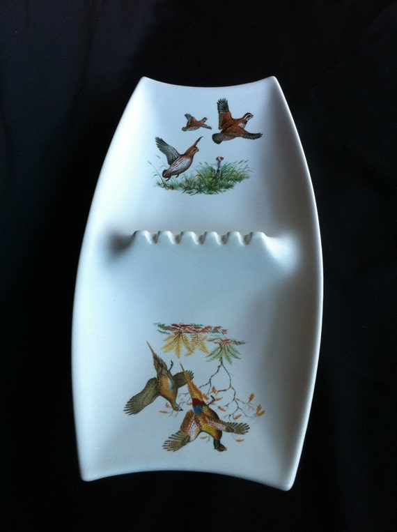Like this item? & A Double Porcelain Ashtray With A Bird Hunting/Pheasant Design
