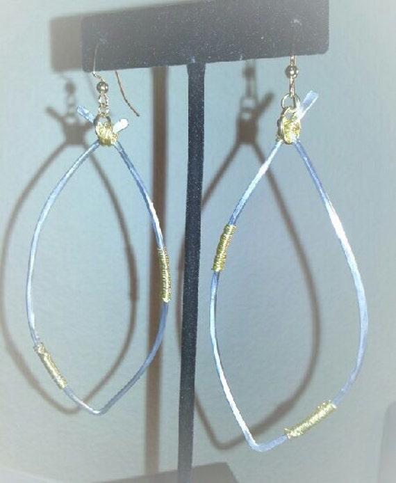 Gorgeous open hoop silver wire earring hoops