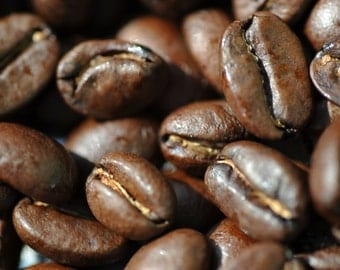 Coffee -  Just rosted / still alive aromas / Macro / Photography