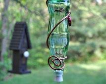 "1970s Vintage Coke Bottle Hummingbird Feeder ~ ""The Soda Fountain"" - with ball bearing feeder tube!"
