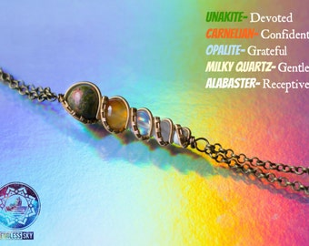 Cloud Nine-- Handmade Semi-Precious Stone Necklace-- Show Your Colors