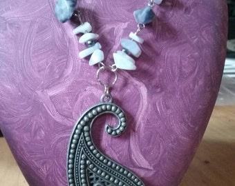 Handmade Paisley Necklace